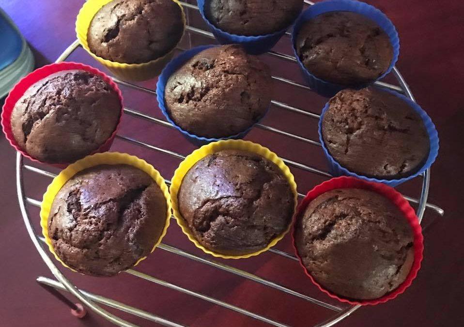 Sugar Free Chocolate and Banana Muffin Recipe