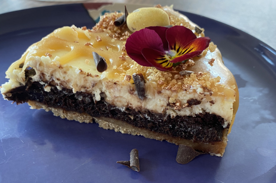 No Added Sugar Salted Caramel Brownie Cheesecake Recipe Created By Rosie From Great British Bake Off