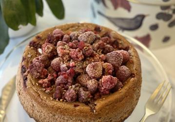 Low Calorie Chocolate Raspberry Cheesecake