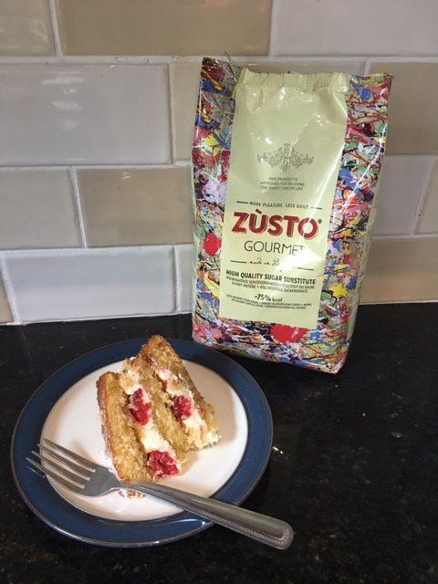 Zusto raspberry and mascarpone layer sponge cake